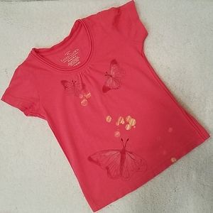 Faded Glory Shirts & Tops - *5 For $20* Faded Glory Coral Butterfly Top